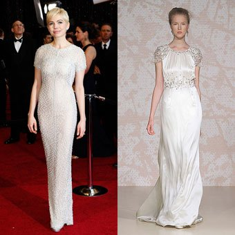 michelle williams vestido de novia